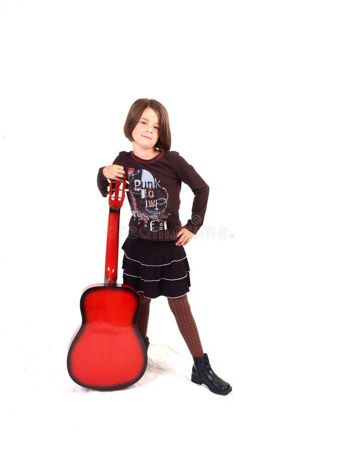 gitarrred fotografering för bildbyråer