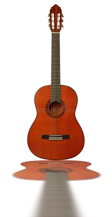 gitarrreflexion royaltyfri bild