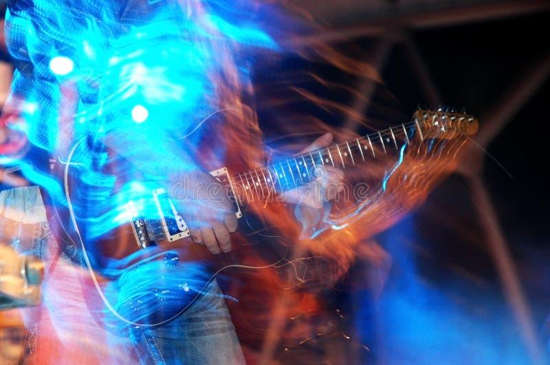 gitarrrock arkivbild