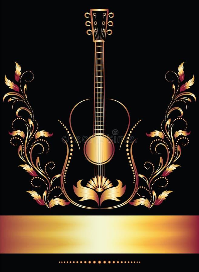 gitarrsidatitel vektor illustrationer