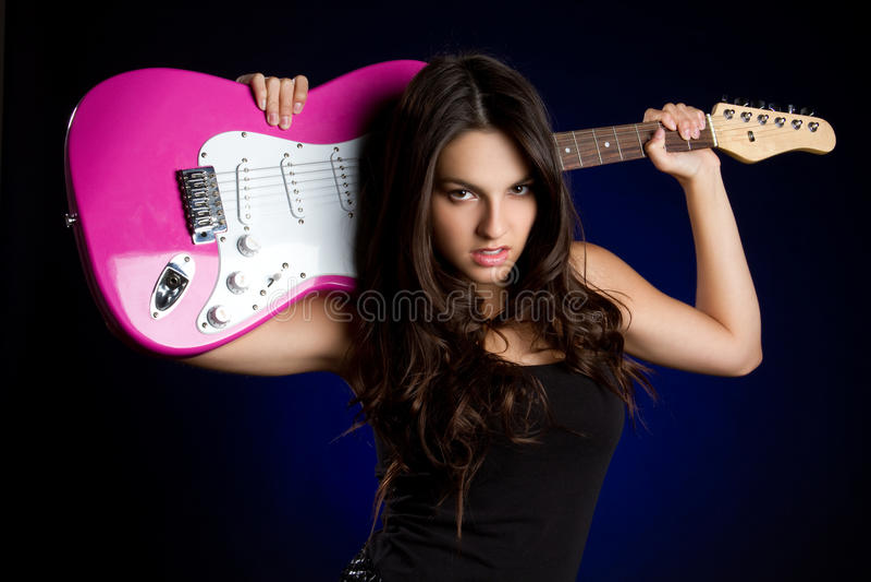 gitarrspelare royaltyfri bild