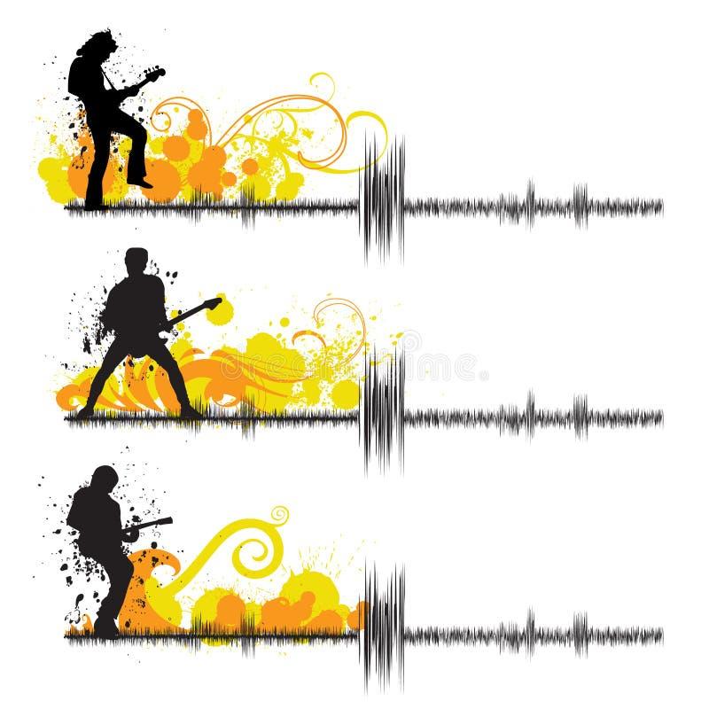 gitarrspelare stock illustrationer