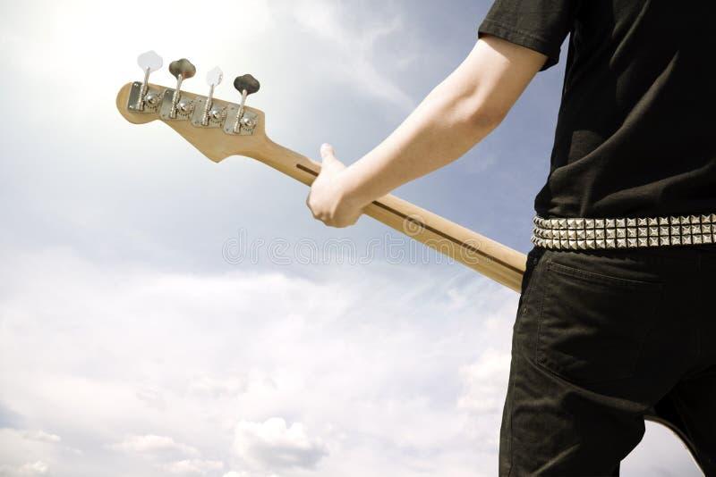 gitarrspelrum arkivbilder
