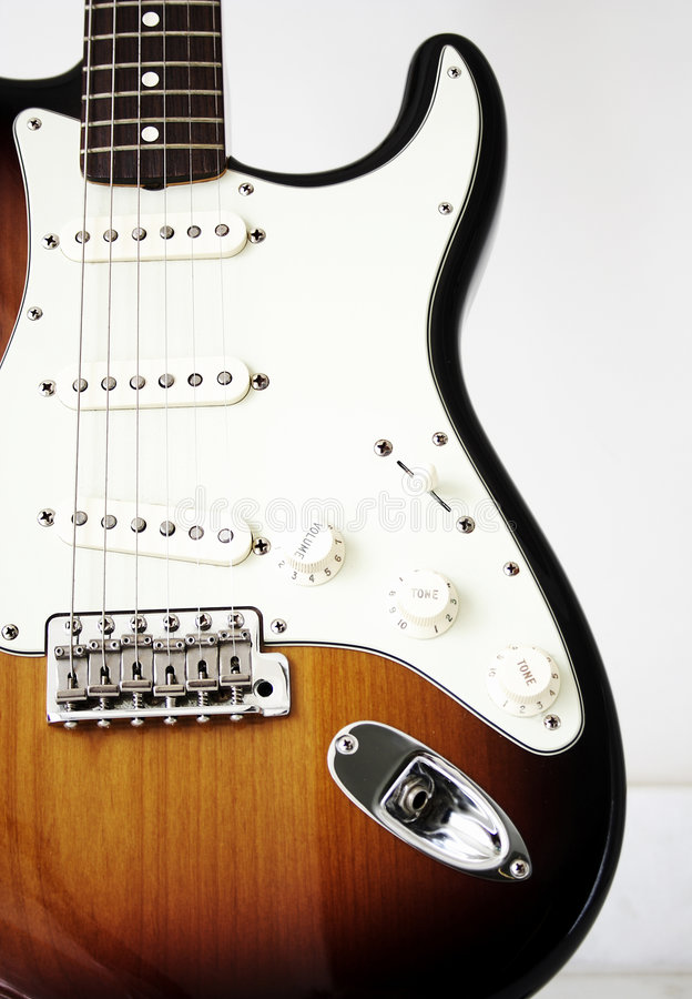 gitarrstratocastertappning arkivbild