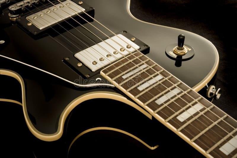 gitarrtappning royaltyfria bilder