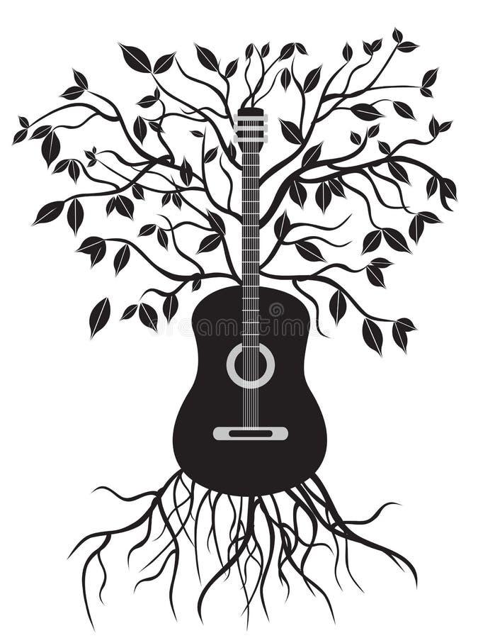 gitarrtree royaltyfri illustrationer