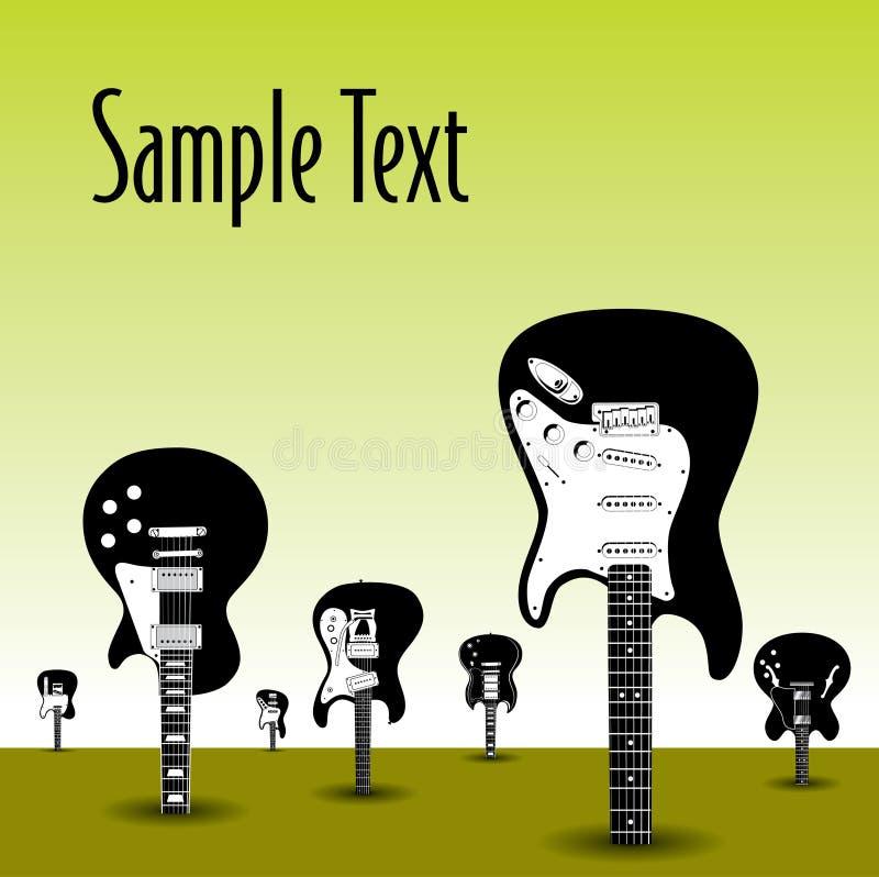gitarrtrees royaltyfri illustrationer