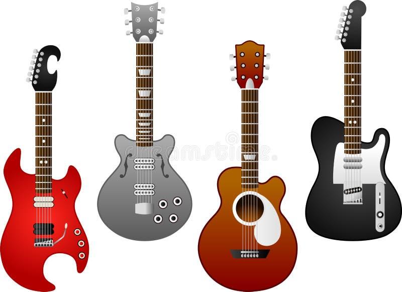 Gitarruppsättning 5 stock illustrationer