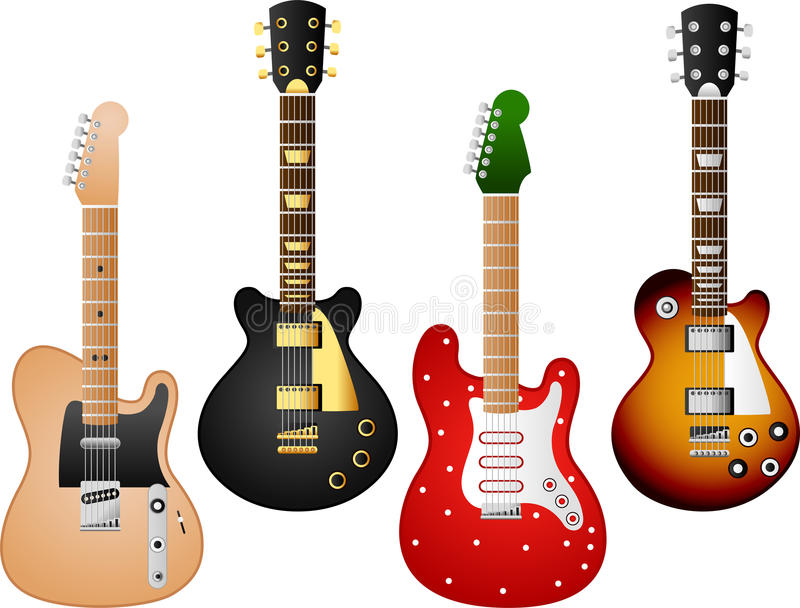 Gitarruppsättning 7 stock illustrationer