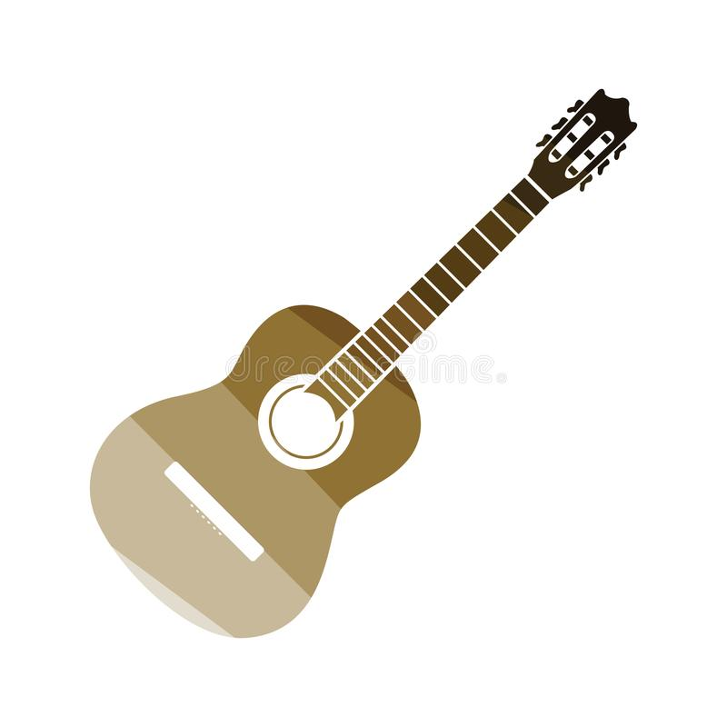 Gitary akustycznej ikona ilustracji