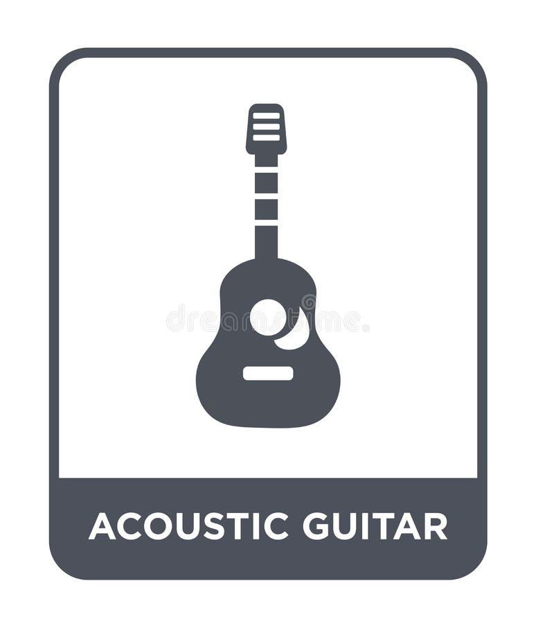 gitary akustycznej ikona w modnym projekta stylu gitary akustycznej ikona odizolowywająca na białym tle gitary akustycznej wektor ilustracja wektor