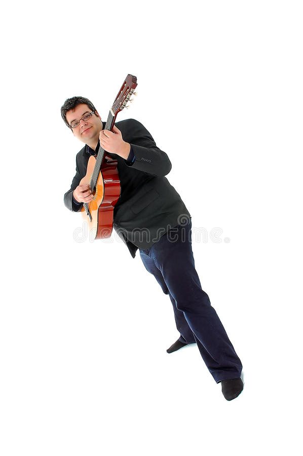 gitary akustycznej mężczyzna bawić się obrazy royalty free