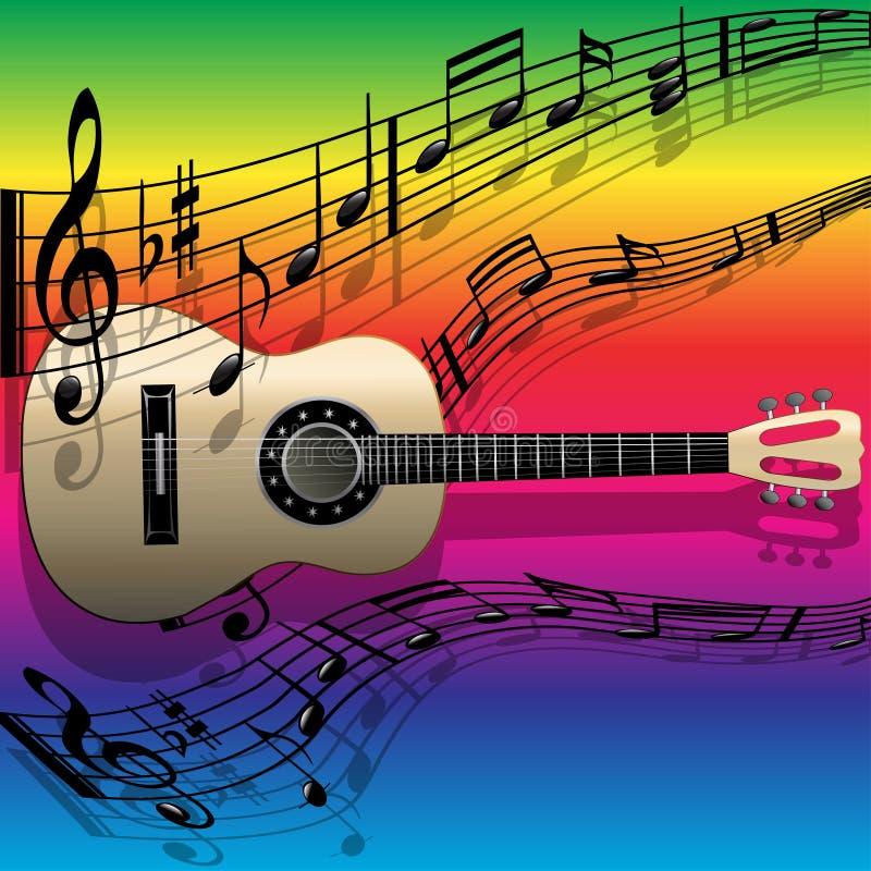 gitary akustycznej melodia ilustracja wektor