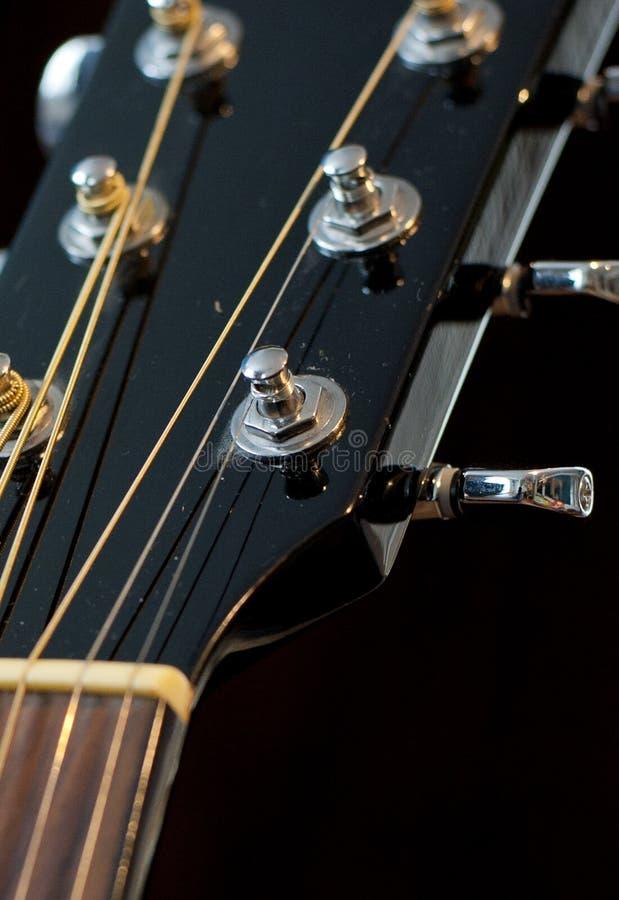 Gitary akustycznej nastrajania kluczy tło zdjęcia royalty free