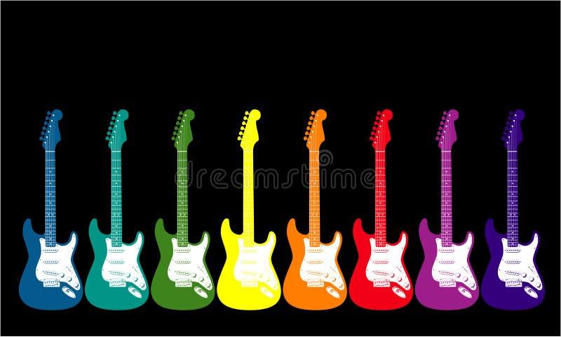 gitary barwiona tęcza ilustracji
