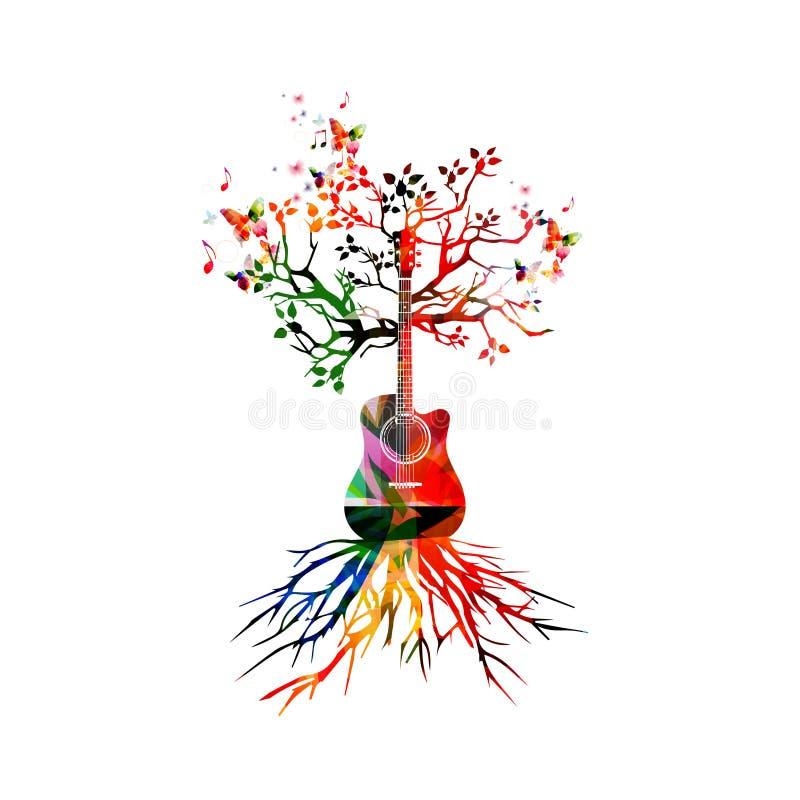 Gitary drzewo royalty ilustracja