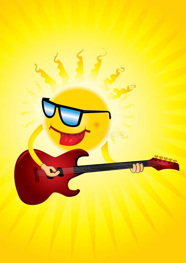 gitary gorący ilustracyjny słońca wektor ilustracji