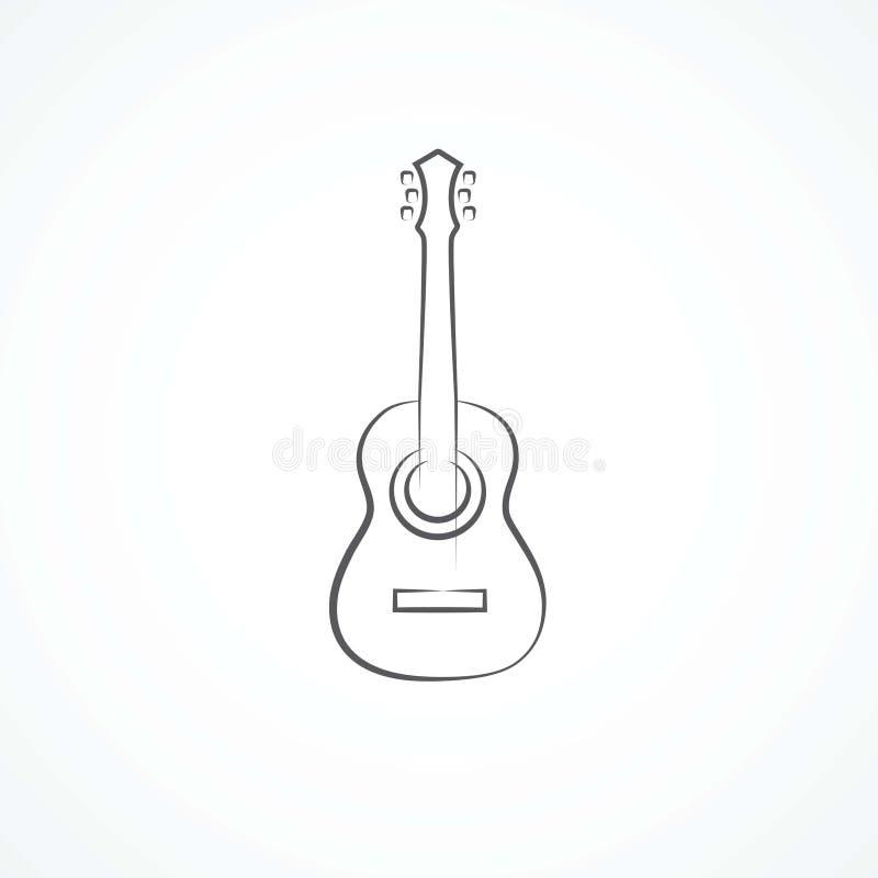 Gitary ikona ilustracji