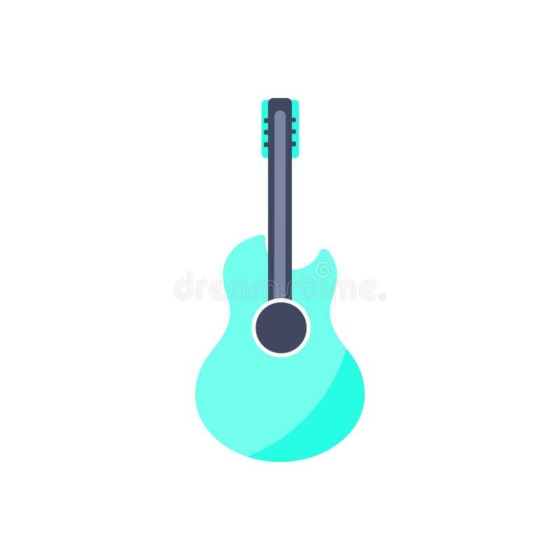 Gitary ikona Odosobniony muzyczny instrument ilustracja wektor