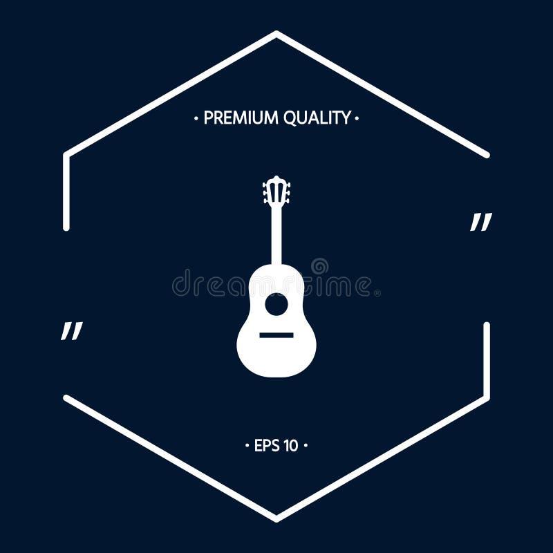 Gitary ikony symbol ilustracja wektor
