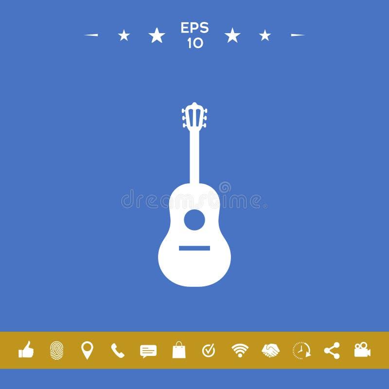 Gitary ikony symbol royalty ilustracja