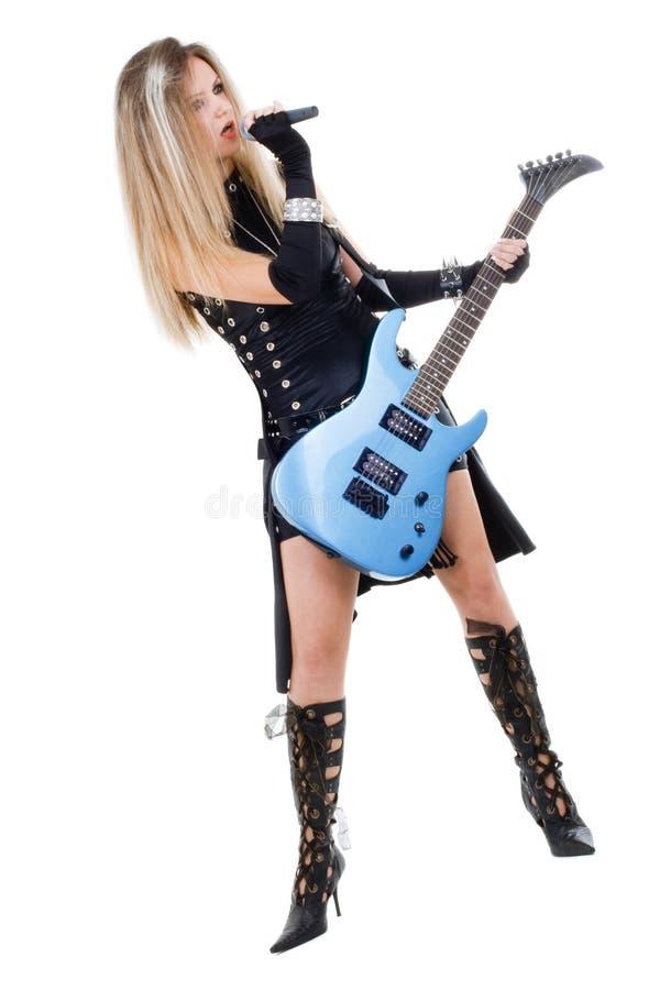 gitary kobieta zdjęcia stock