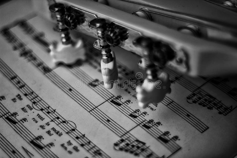 Gitary muzyka obrazy stock