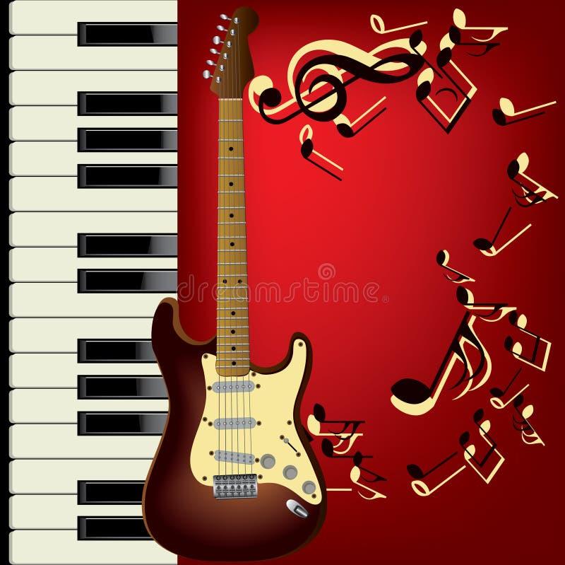 gitary pianino ilustracji