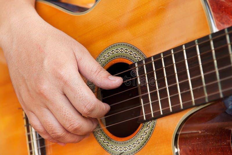 Gitary Ręka Zdjęcie Royalty Free