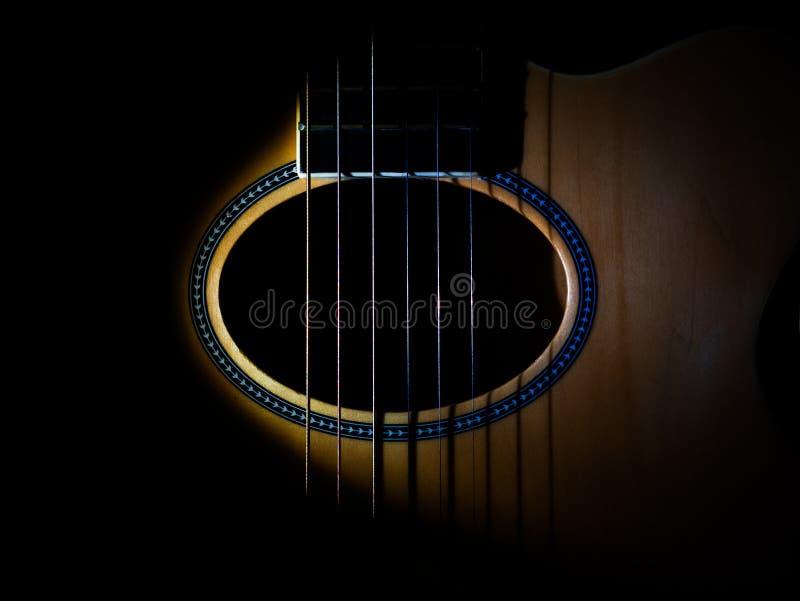 Gitary rozsądna dziura zdjęcie royalty free