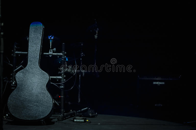 Gitary skrzynka obraz stock