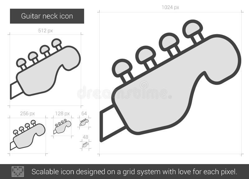 Gitary szyi linii ikona royalty ilustracja