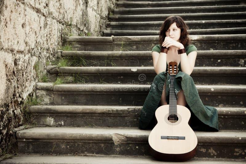 gitary wykonawcy potomstwa zdjęcie royalty free
