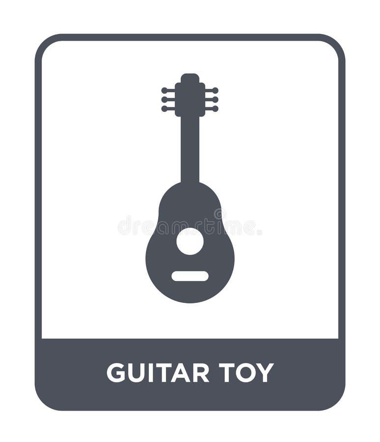 gitary zabawkarska ikona w modnym projekta stylu gitary zabawkarska ikona odizolowywająca na białym tle gitary zabawkarska wektor royalty ilustracja