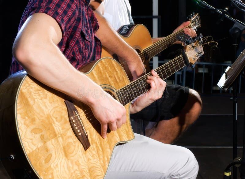 gitarzyści fotografia stock