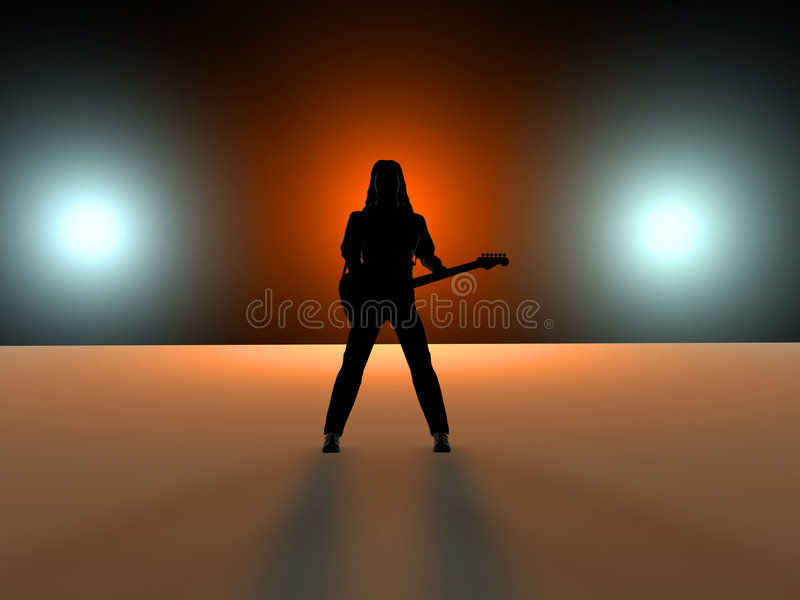 gitarzysta ilustracji