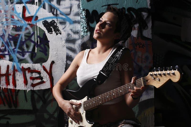 gitarzysta seksowny fotografia stock
