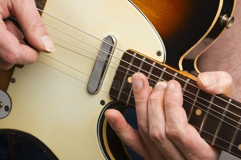 gitarzysty prowadzenie zdjęcie royalty free