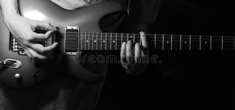 gitarzysty solo fotografia stock