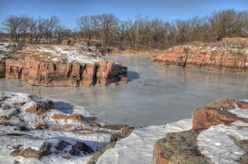 Gitchee Manitou природный заповедник на границе Айовы/Южной Дакоты гнусной для убийств детей стоковая фотография rf