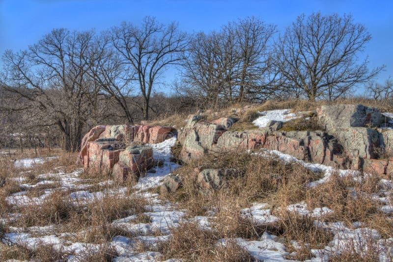 Gitchee Manitou природный заповедник на границе Айовы/Южной Дакоты гнусной для убийств детей стоковое фото