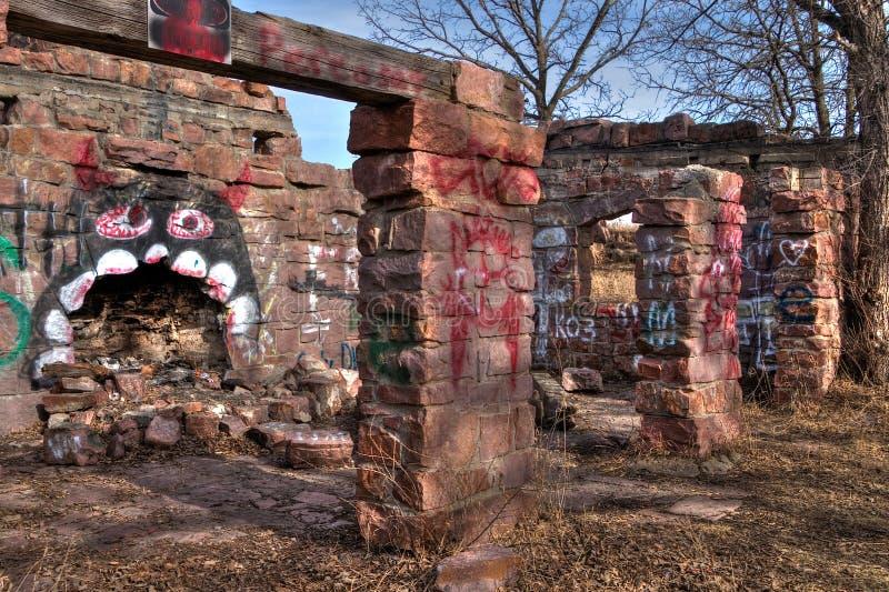 Gitchee Manitou природный заповедник на границе Айовы/Южной Дакоты гнусной для убийств детей стоковые фотографии rf