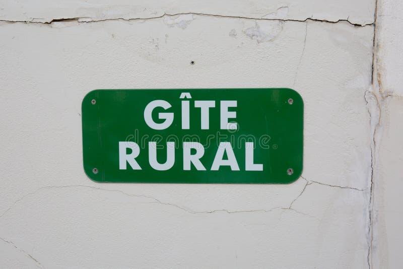 Gite rural assina dentro francês fotografia de stock