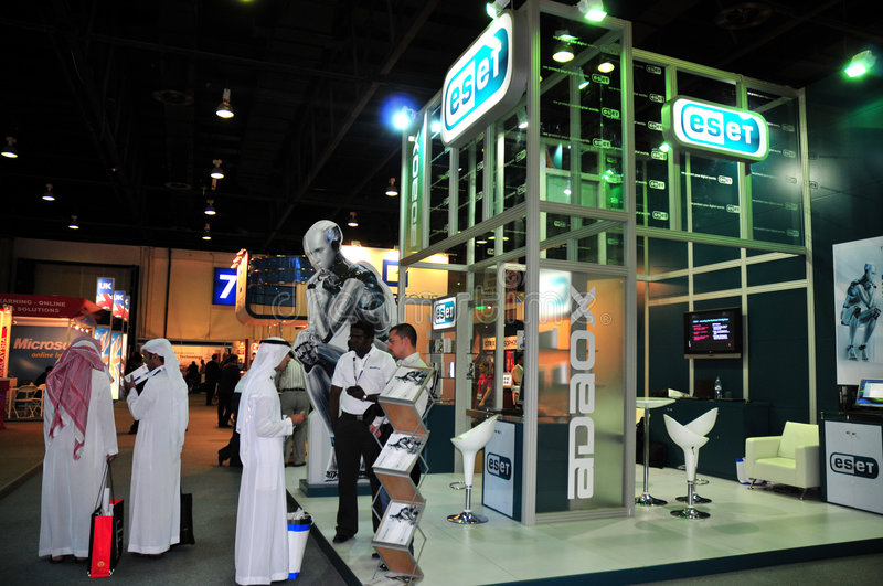 Download Gitex 2008 - ESET Pavilion editorial photography. Image of dubai - 6818317