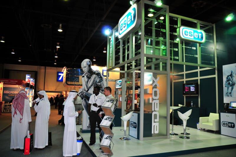 Gitex 2008 - Pavilhão de ESET fotografia de stock royalty free