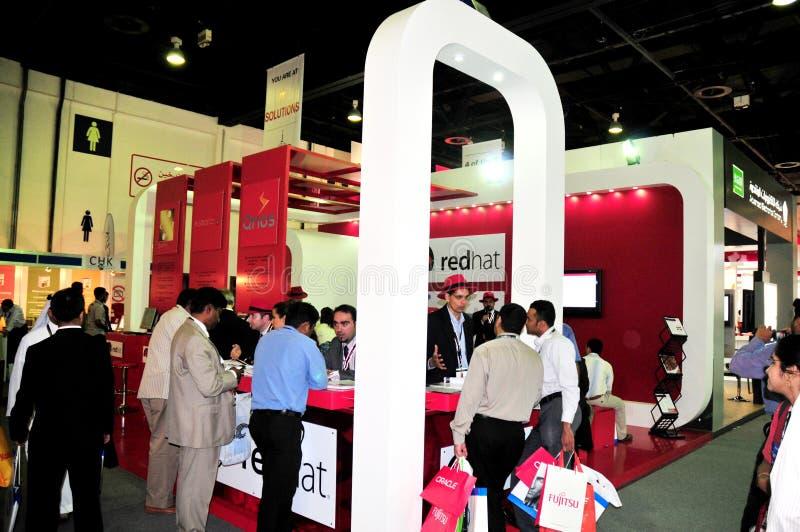 Gitex 2008 - RedHat Pavillion stockbilder