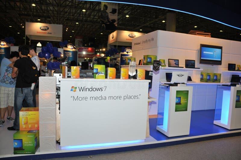 GITEX 2009 - enkel gelanceerd Microsoft Windows 7 royalty-vrije stock foto