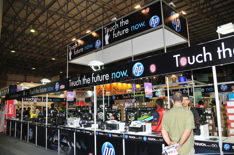 GiTEX 2009 - HP touch the future now stock photography