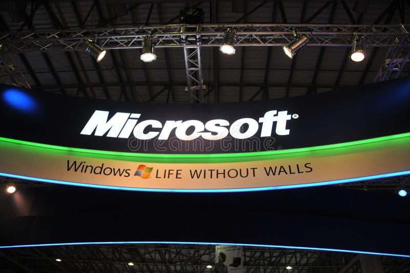 GITEX 2009 - Pavillon de Microsoft Windows 7 photographie stock