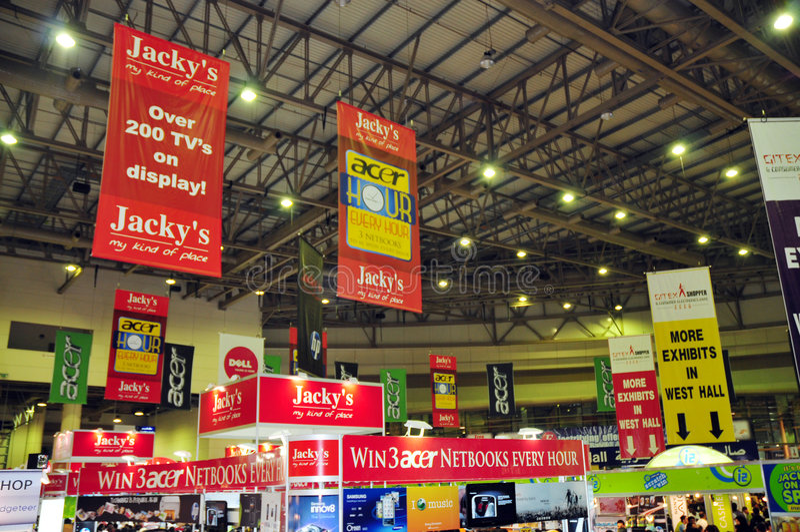 Gitex Shopper 2008 - Branding On Banners Editorial Stock Photo